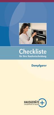 Checkliste Dampfgarer