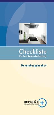 Checkliste Dunstabzugshauben