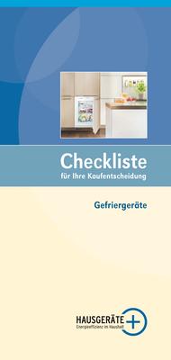 Checkliste Gefriergeräte