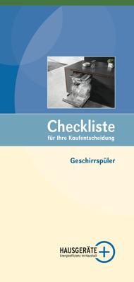 Checkliste Geschirrspüler