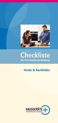 Checkliste Herde & Kochfelder