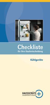 Checkliste Kühlgeräte