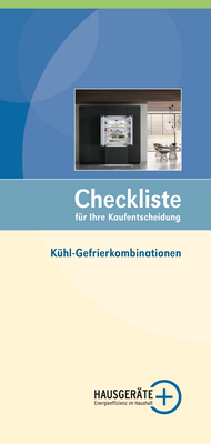 Checkliste Kühl-Gefrierkombinationen