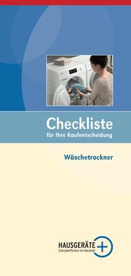 Checkliste Wäschetrockner