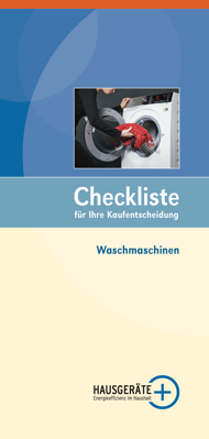 Checkliste Waschmaschinen